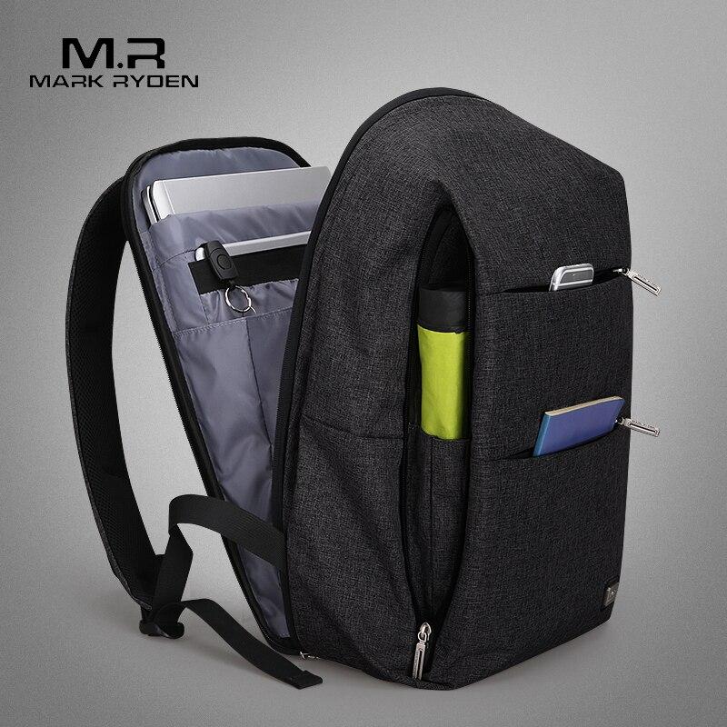 Nueva mochila para hombre Mark Ryden para ordenador portátil de 15,6 pulgadas, mochila de gran capacidad, mochila de estilo informal, repelente al agua