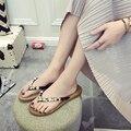 Chinelos mulheres sapatos de Verão Strass Clássico conforto moda flip flops mulheres Chinelos sh020098