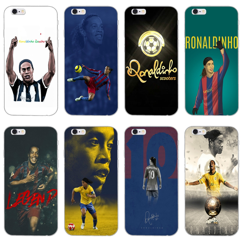 tup soft cover case Brasil football Ronaldinho For iPhone XR X XS Max 8 7 6s 6 plus SE 5s 5c 5 iPod Touch