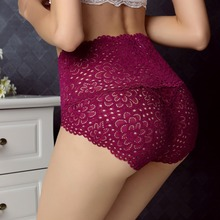 Free Shipping The new tall waist belly in ms lace underwear Osaka panties modal bamboo fiber is better than cotton #7232