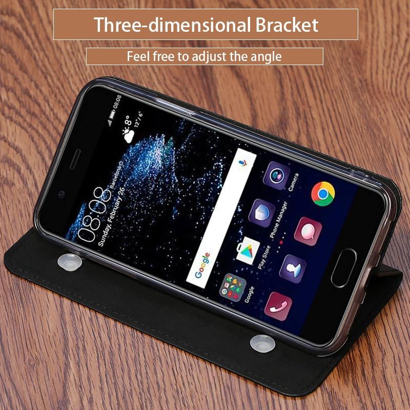 Étui de téléphone portable mince texture Litchi pour xiaomi max 3 coque de téléphone à rabat en cuir véritable étui de protection personnalisé fait à la main