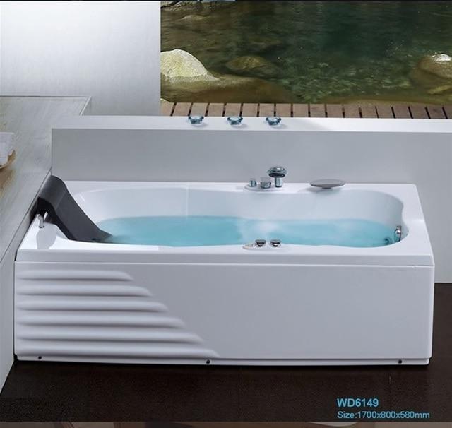 Wall Corner Fiber glass Acrylic whirlpool bathtub Left Skirt ...
