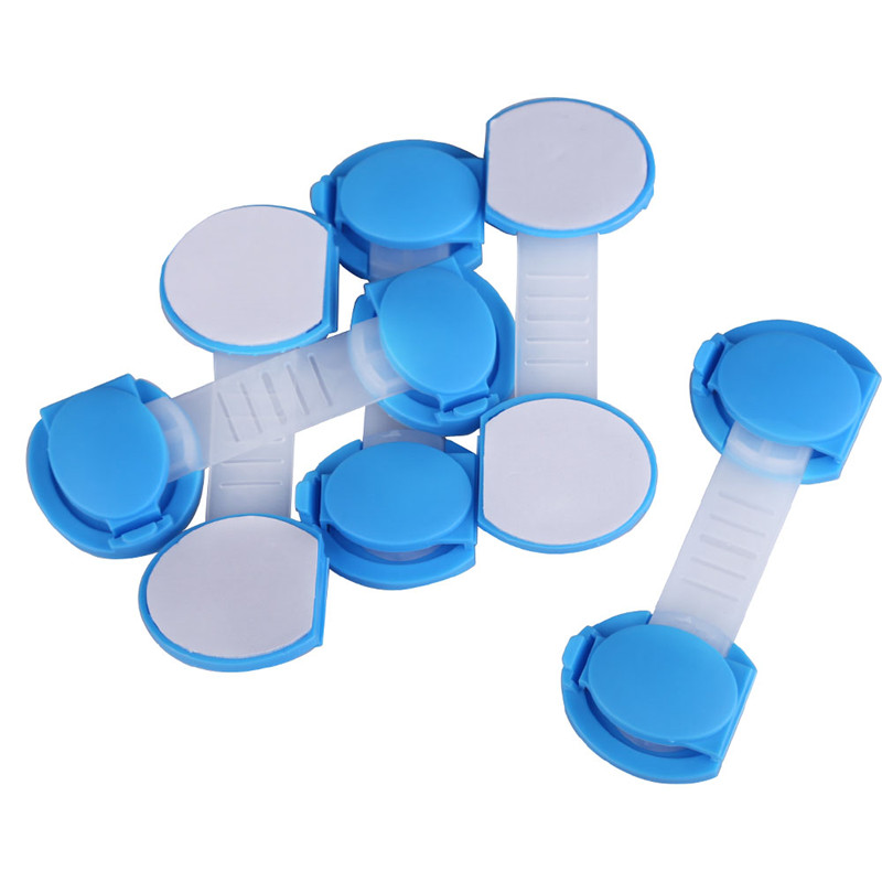 5 unids/set Puerta Cajones Armario Todder Kids Baby Safety Lock Plástico Rosa Az