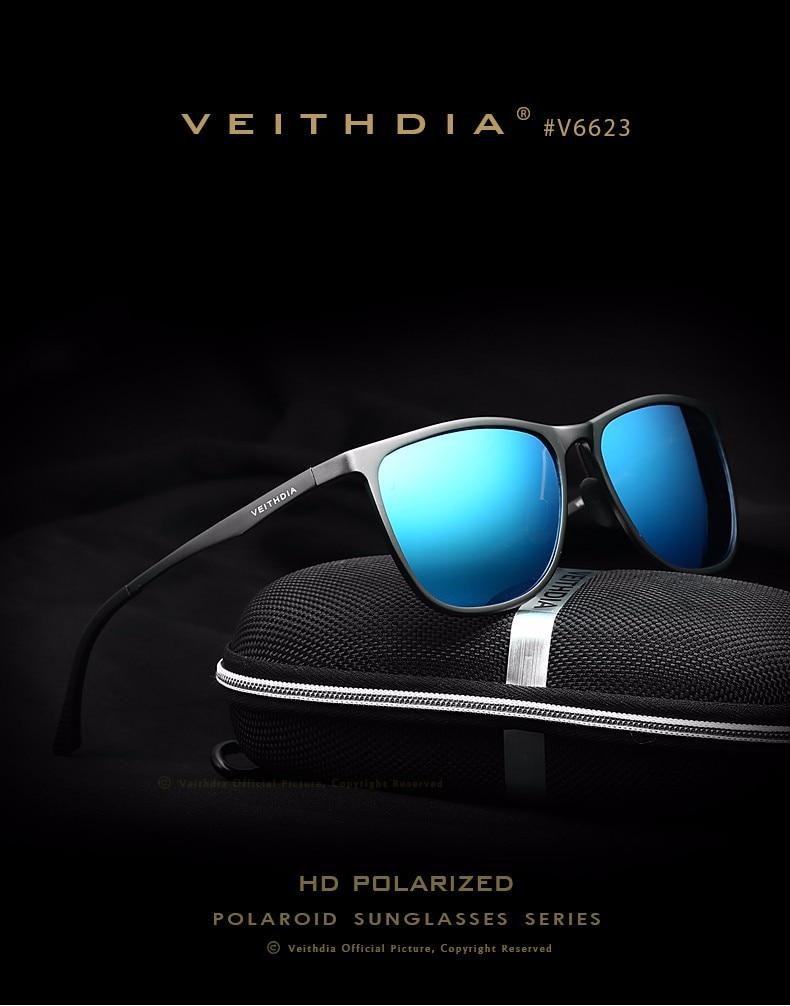 VEITHDIA HD Polarized Sunglasses Men Driving Mirrored Sun Glasses Sports Eyewear