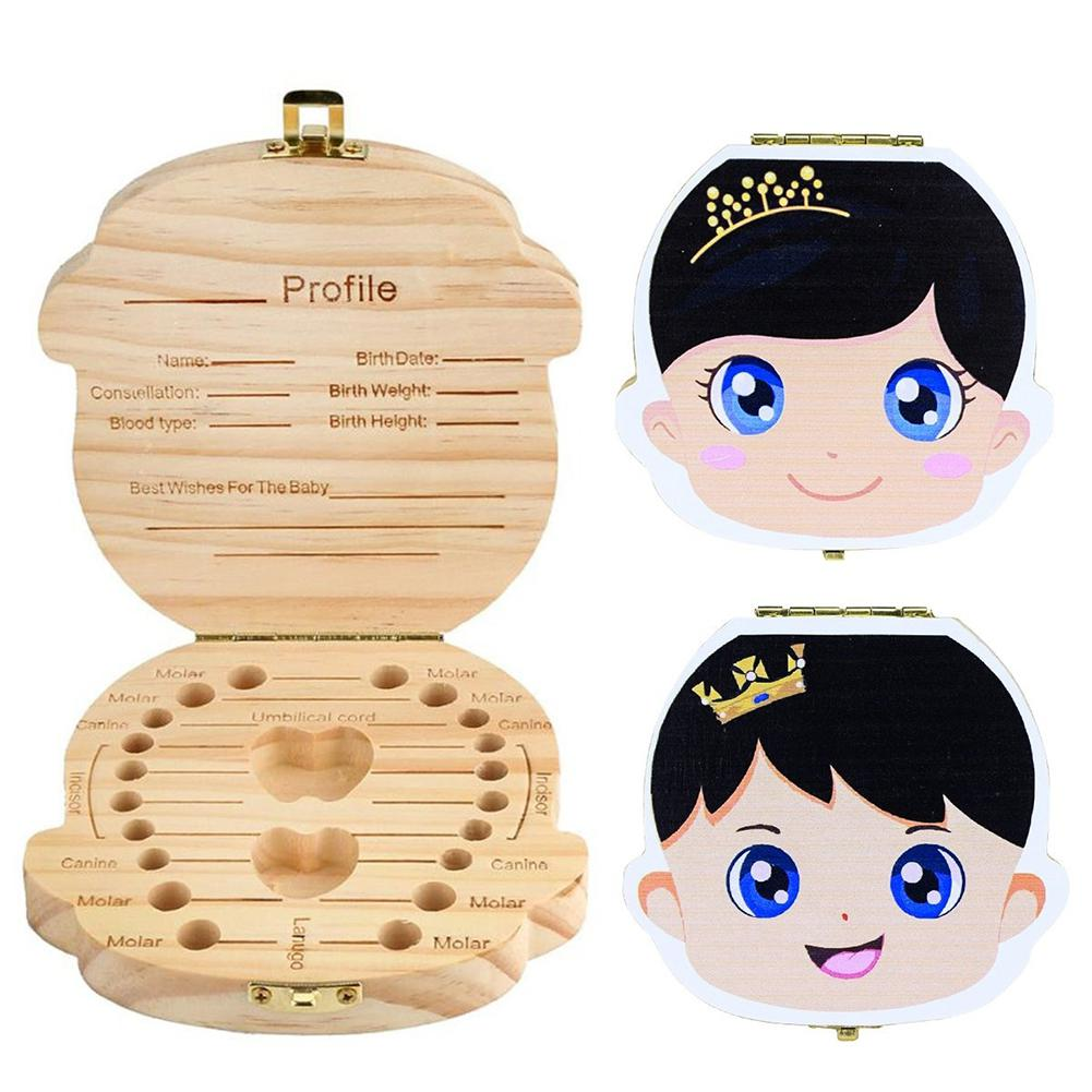 Wooden Painting Surface Storage Container For Deciduous Teeth Lanugo Umbilical Cord