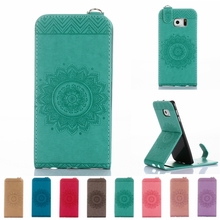 Flower Pattern Leather Phone Case For Samsung Galaxy A3 A5 2017 J5 J3 J1 2016 Prime