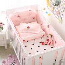 Five-Piece Baby Bedding Sets Crib Bumpers Bed Around Cot Bed
