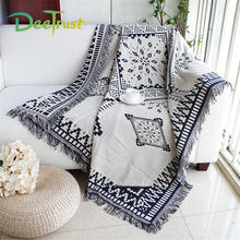 Classic Double Sides Tassel Plaid Thickening Cotton Blanket For Beds Sofa Throws On Plane Cover Home Decorative Cobertor(China)