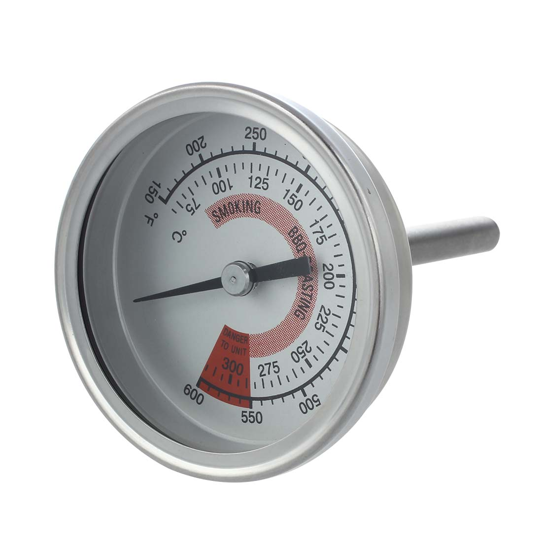 Practical Barbecue BBQ Pit Smoker Grill Thermometer Gauge 300