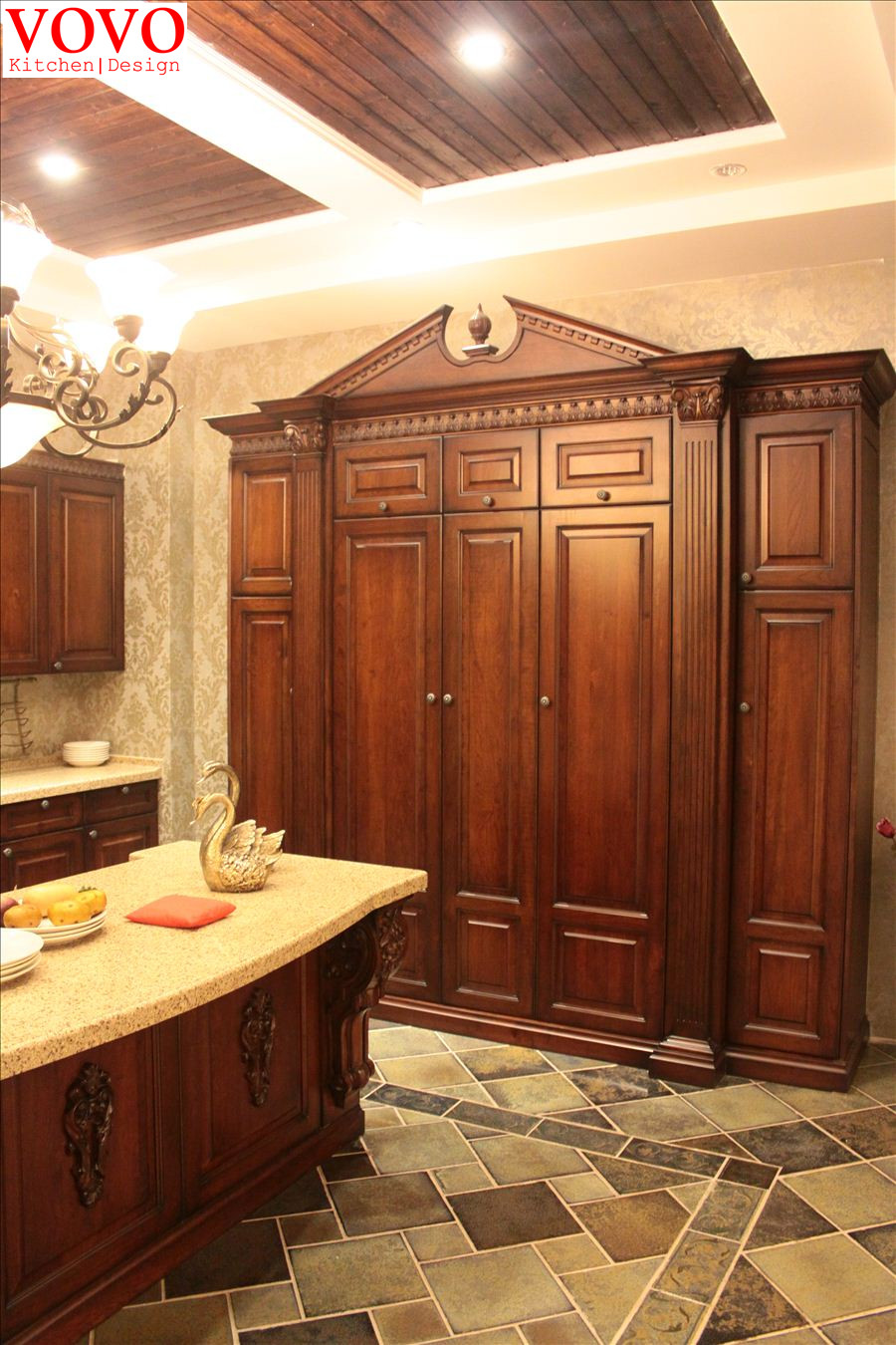 Country style kitchen cabinet made in china-in Kitchen ...