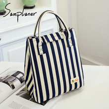 Samplaner Oxford Luxury Lunch Bag For Women Kids Men Cooler Lunch Box