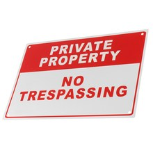 NEW Private Property No Trespassing Metal Safety Warning Sign 4 Drilled Hole 20x30cm Home Security