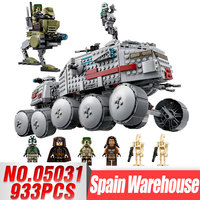 933Pcs LEPIN 05031 The Star Series Clone Turbo Tank Wars Building Blocks Compatible Legoinglys 75151 Boys Birthday Kids Gifts