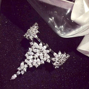 Image 5 - HIBRIDE Charm AAA Cubic Zirconia Fashion Jewelry Sets for Women Bridal Wedding Sets 2 Pcs Ring Necklace Set Women Gift N 1028
