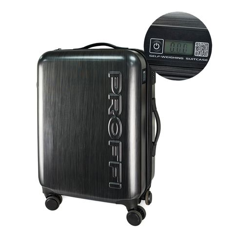 [Available from 10.11] Black suitcase PROFFI TRAVEL PH8896, M, plastic, C built-in scales