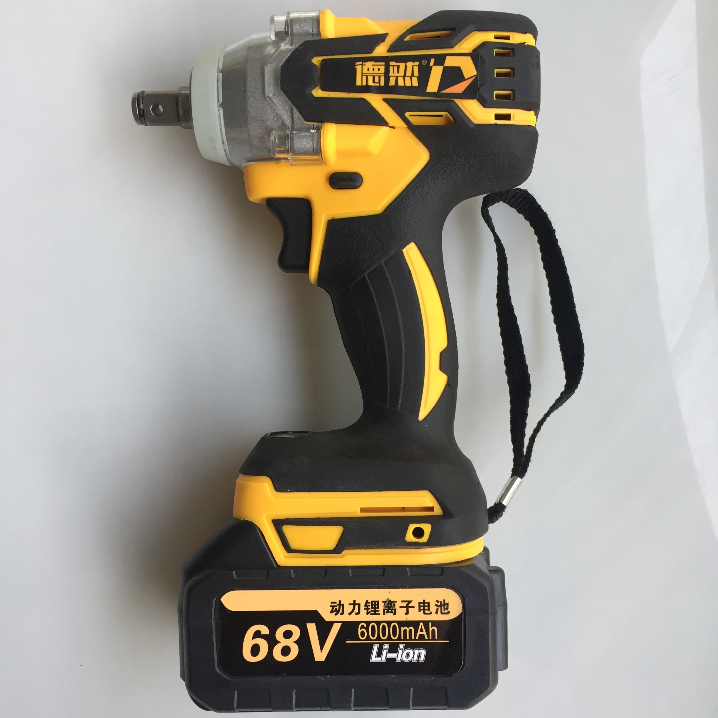 Brushless Cordless Electric Wrench Impact Socket Wrench 6000mAh Li Battery Hand Drill Installation Power Tools With LED