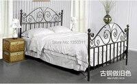 Современный, металлическая кровать из кованого железа, один или два раза. Ширина (1 м до 1.8 м) * 2 м в длину, могут быть выполнены по индивидуальн...