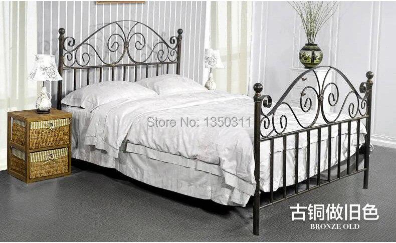 lit simple ou double moderne en metal fer forge largeur 1 m a 1 8 m 2 metres de long personnalisable