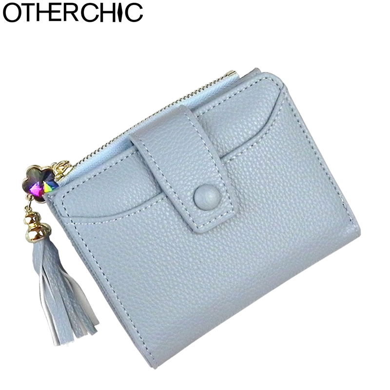 OTHERCHIC Faux Leather Women Short Wallets Tassel Ladies Small Fringe Wallet Female Purse Coin Purses Fashion Money Bag 7N03-35 otherchic women short wallets small simple wallet zipper coin pocket purse woman female roomy wallet purses money bag 7n01 14