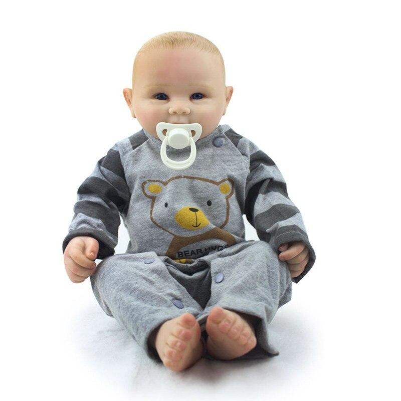 Reborn Bébé Poupée Garçon Victoria Plein Silicone Vinyle Vraiment Réel Collection Fini Poupée Juguetes Brinquedos livraison gratuite hotsale
