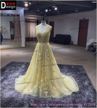 Luxury Gorgeous A-line Beads/Sequins/crystal/Embroidery Long custom made Evening Dress