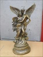 19Western Art beautiful Bronze Statue beauty and nude Cupid love god statue