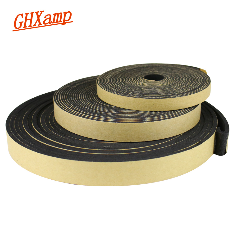 GHXAMP 2 Meter EVA Speaker Repair Sealing Strip Wire Box Inverted Tube Shock Absorbing Gasket Seal Width 10MM 15MM 18MM