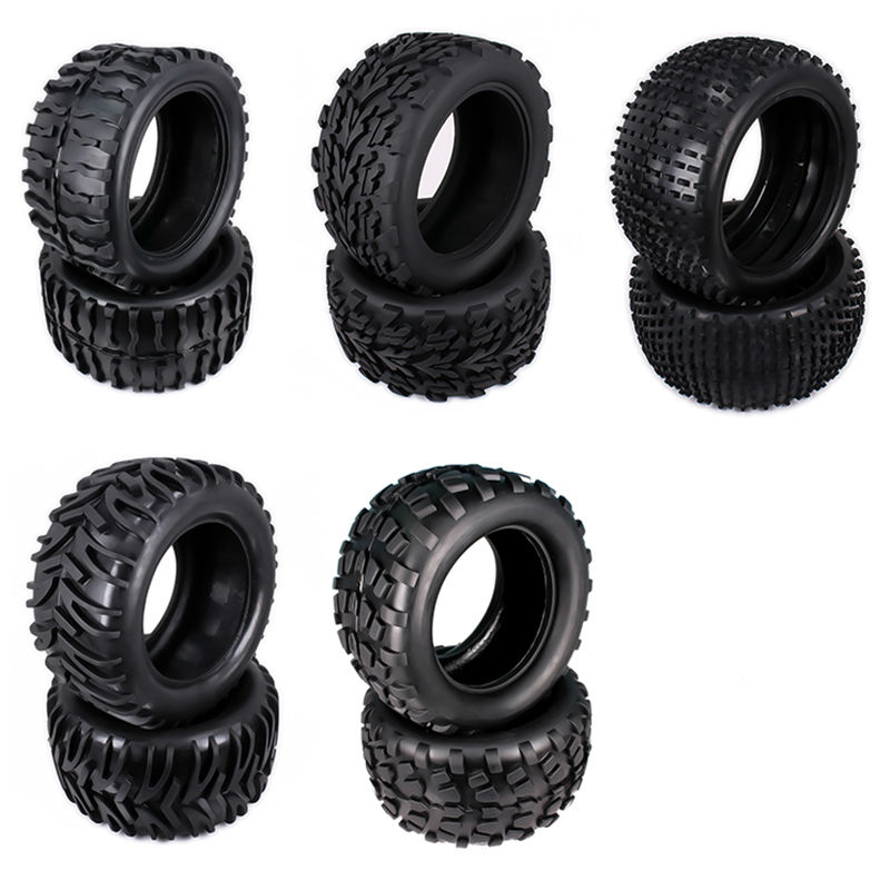 Natural Rubber Tire Tyre For Rc Car 1/10 Monster Truck Big Foot Truggy HSP Himoto HPI Traxxas Redcat Kyosho Model Car 08009