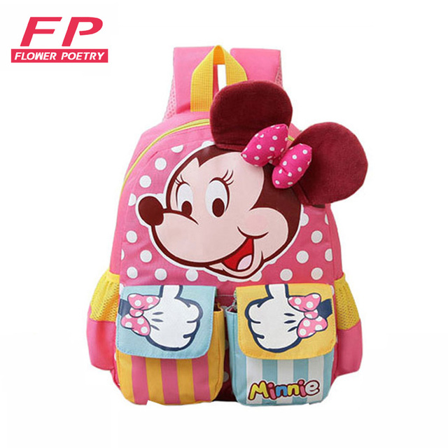 Cartoon Mickey Children School Bags For Girls&Boy 2016 Kids Backpack Child Book Bag Minnie Princess Schoolbags Mochila Escolar