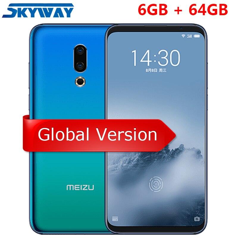 Оригинал Meizu 16th 16-й глобальной версии 6 ГБ Оперативная память 64 ГБ Встроенная память Смартфон Snapdragon 845 Octa Core 6,0″ 2160×1080 P Экран отпечатков пальцев