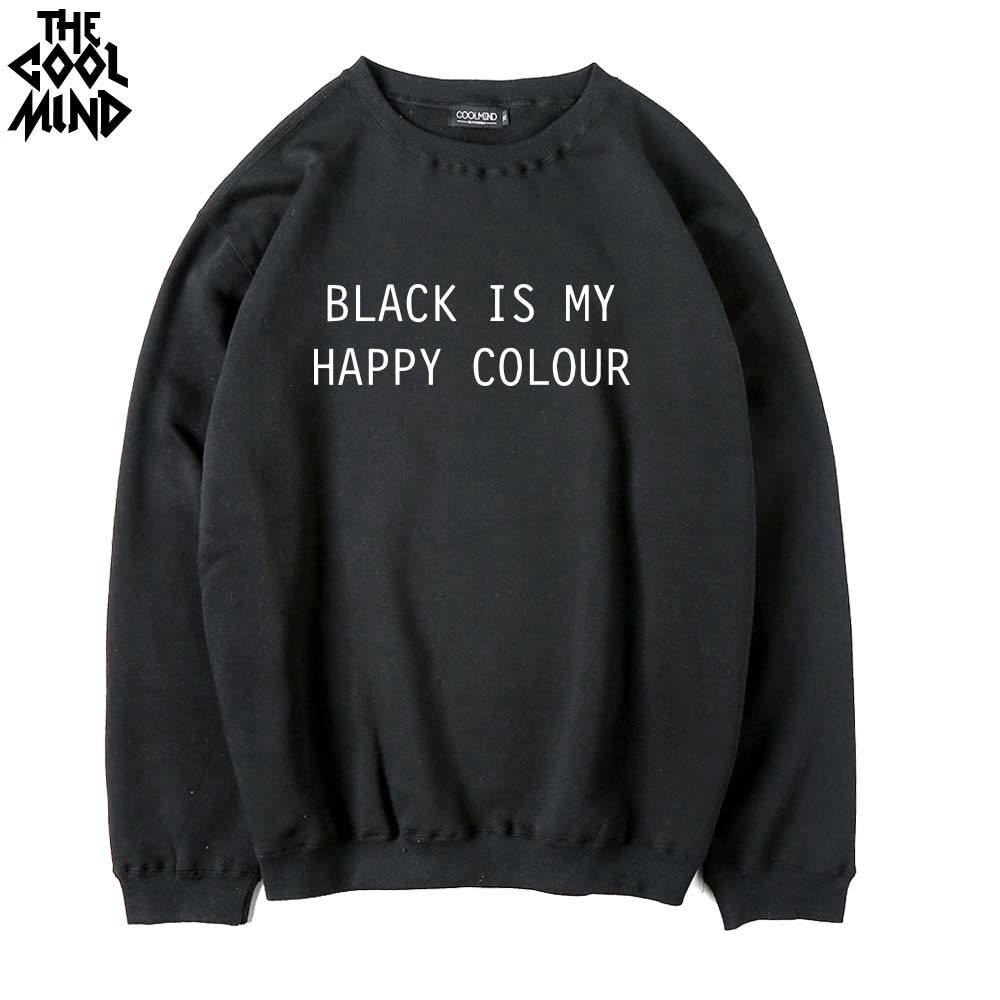 T shirt black is my happy color - The Coolmind Cotton Blend Fleece Thick Black Is My Happy Color Men Hoodies Casual Cool Fashion