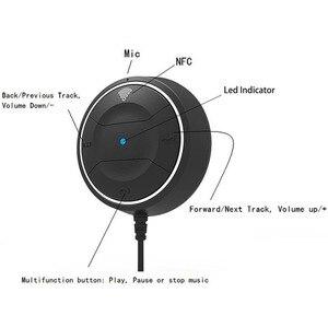 Image 2 - JaJaBor Bluetooth 4,0 Hands Free Car kit mit NFC Funktion + 3,5mm AUX Receiver Musik Aux Freisprecheinrichtung 2,1 EIN USB Auto Ladegerät