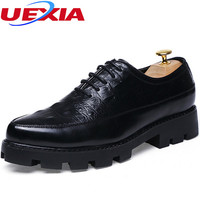 Crocodile Fashion Formal Dress Mens Shoes Classic Spring Autumn Oxford Wedding Party Leather Business Men Shoes