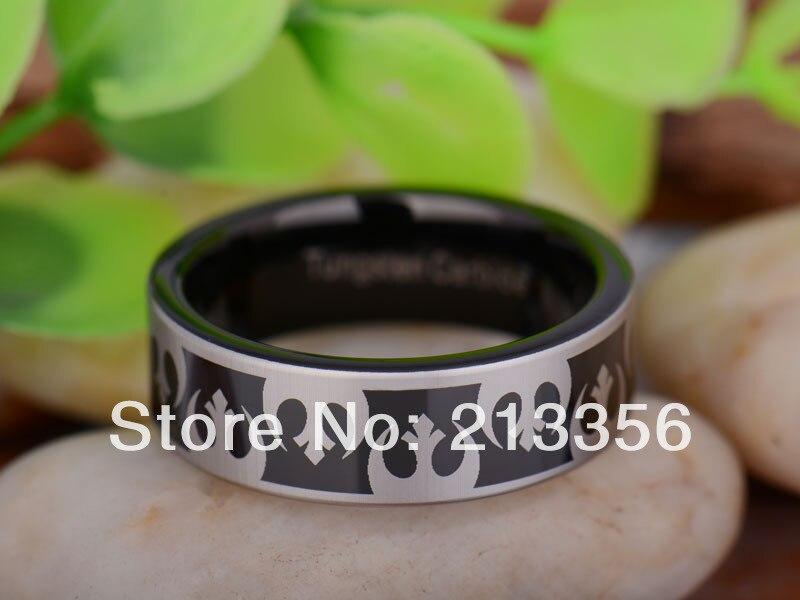 Free Shipping UK Russia Brazil USA Hot Selling 8MM Black Pipe Star Wars Rebel Alliance Men's Lord Tungsten Carbide Wedding Ring