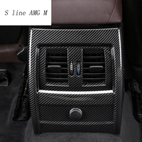 Car Styling Back row air outlet Row Cigarette Lighter Covers Stickers Trim For BMW 3 4 Series 3GT F30 F32 F34 Auto Carbon fiber