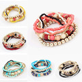 Hot Spring Korean Designer Fashion Bohemia Beads Bracelet Beaded Multilayer Strand Stretch Bracelets Bangles For Women Girl