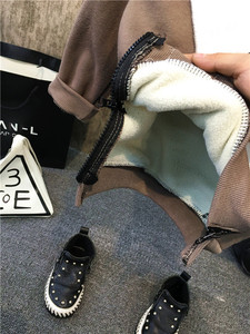 Image 5 - New Children Kids Boys Clothing Sets Autumn Winter Baby Boys Fur collar denim jacket + sweater + jeans 3Pcs boys Clothes set