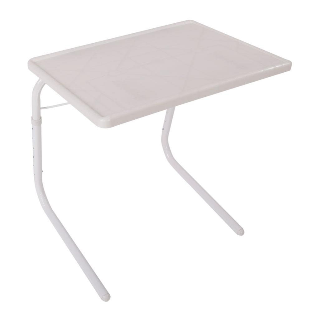 Practical Portable Home Use Foldable Assembled Bed Table WhitePractical Portable Home Use Foldable Assembled Bed Table White