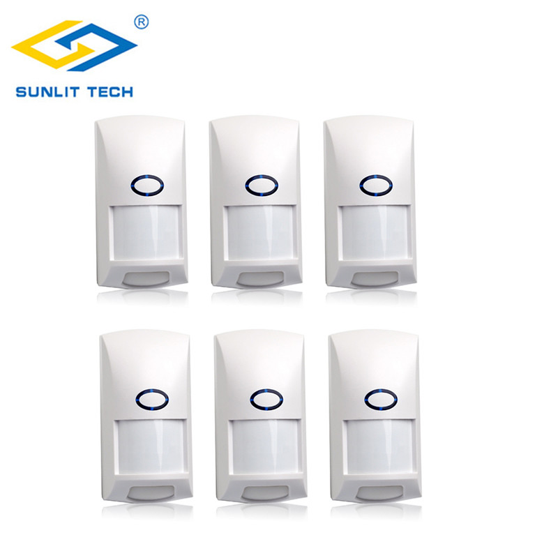 6pcs 433Mhz PIR Sensor Anti-pet Immunity Wireless Infrared Motion Sensor Detector For Home Security Alarm System Alarm Kit6pcs 433Mhz PIR Sensor Anti-pet Immunity Wireless Infrared Motion Sensor Detector For Home Security Alarm System Alarm Kit