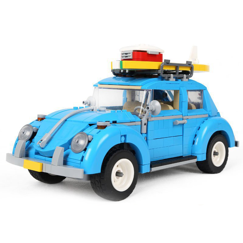 LEPIN 21003 City Technic Cars Blue Beetle Classical Travel Model Building Blocks Educational Bricks Car Toys Kid Gifts Legoingly loz mini diamond block world famous architecture financial center swfc shangha china city nanoblock model brick educational toys