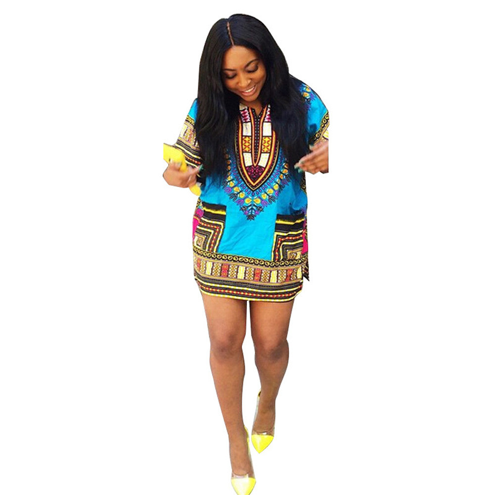 11696215966d 2019 New Summer African Print Dashiki dress for women dresses africa  clothing traditional Ladies dress fashion designs-in Dresses from Women s  Clothing on ...