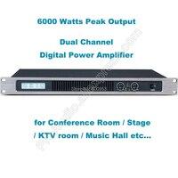 2 канала 6000 Вт Профессиональная цифровая Мощность усилитель AMP стерео MICWL аудио GB350