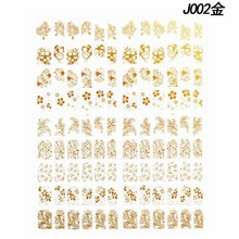 108pcs/sheet Nail Stickers White/Silver/Gold/Black 5 Styles Flower Sticker Decals Designs For Art Decoration#N