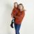Familia Mirada Muchacha Del Bebé Triángulo Ropa Juego de Los Niños Patrón Lindo Kawaii Familia Sudaderas Niños Suéter de Madre E Hija