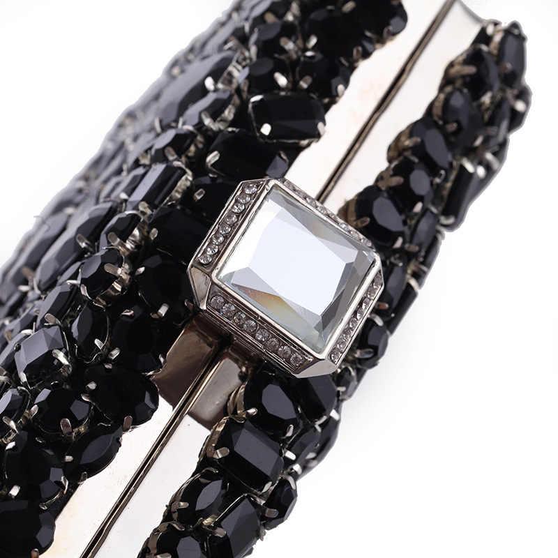 Роскошные для женщин клатч Сумки женские цепочка, украшенная бриллиантами на плечо вечерняя сумочка; BS010 женская обувь Свадебная вечеринка подарок