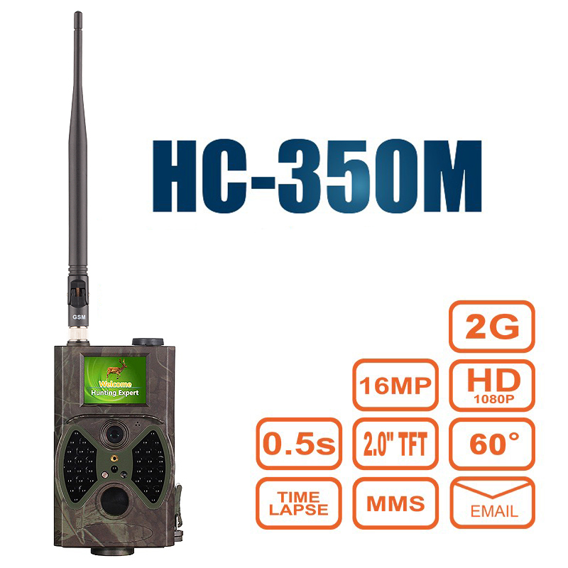 Cámara sendero caza MMS GPRS Correo electrónico infrarrojos salvaje Cámara GSM HC350M GPRS 16MP 1080 p HC300M noche visión para foto de trampas