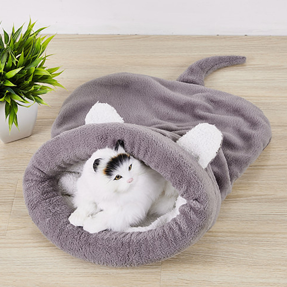 Lovely Pink Blue Cute Dog Cat Cotton Sleeping Bag Pet Bed Soft Lovely Pet House Cushion Mat Products High Quality Lovely Design