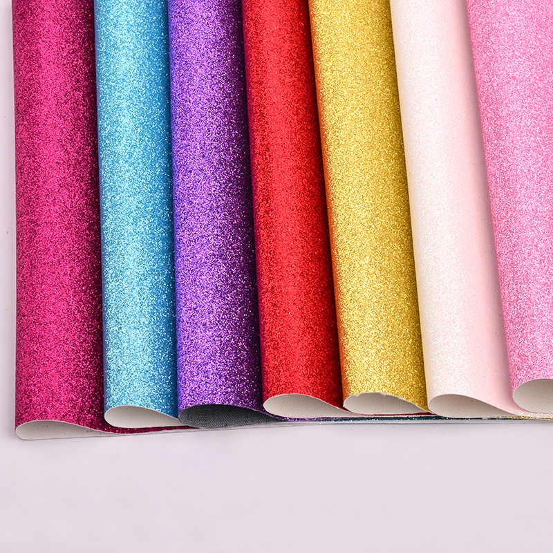 JUNAO 20*34 centímetros Glitter Folhas de Tecido De Couro Falso couro Sintético Couro PU Tecido De Couro Sintético para Sapatos Roupas DIY artesanato