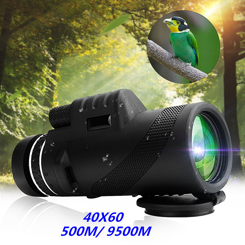 Neue Ankunft 40X60 Tag & Nachtsicht Dual-Fokus HD Optik Zoom Monocular Teleskop Wasserdichte Super Klar für Outdoor Jagd