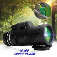Nueva llegada 40X60 día y visión nocturna de doble enfoque HD óptica Zoom telescopio Monocular impermeable súper claro para de caza al aire libre